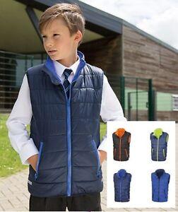 Boys Girls Childs Childrens Kids BLUE or RED Warm Padded Bodywarmer Vest Gilet