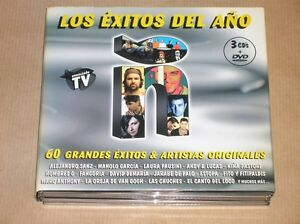 RARE-BOITIER-3-CD-1-DVD-LOS-EXITOS-DEL-ANO-2004-TRES-BON-ETAT