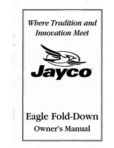 jayco fold down pop up tent trailer owners manual 1999 eagle ebay rh ebay com 2001 Jayco Eagle Travel Trailer 1992 Jayco Eagle Travel Trailer