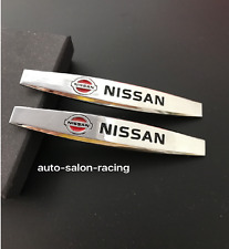 2pcs NISSAN Luxury Auto Car Body chrome Fender Badges Emblems Decal Sticker