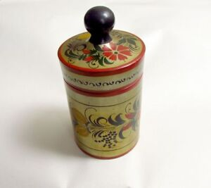 Vintage-wooden-painted-box-Soviet-Era-Box-Lidded-Box-Box-from-USSR-from-70s