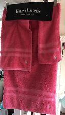 Polo Ralph Lauren  3 Piece Towel Set ~Dark Pink~New Old Stock