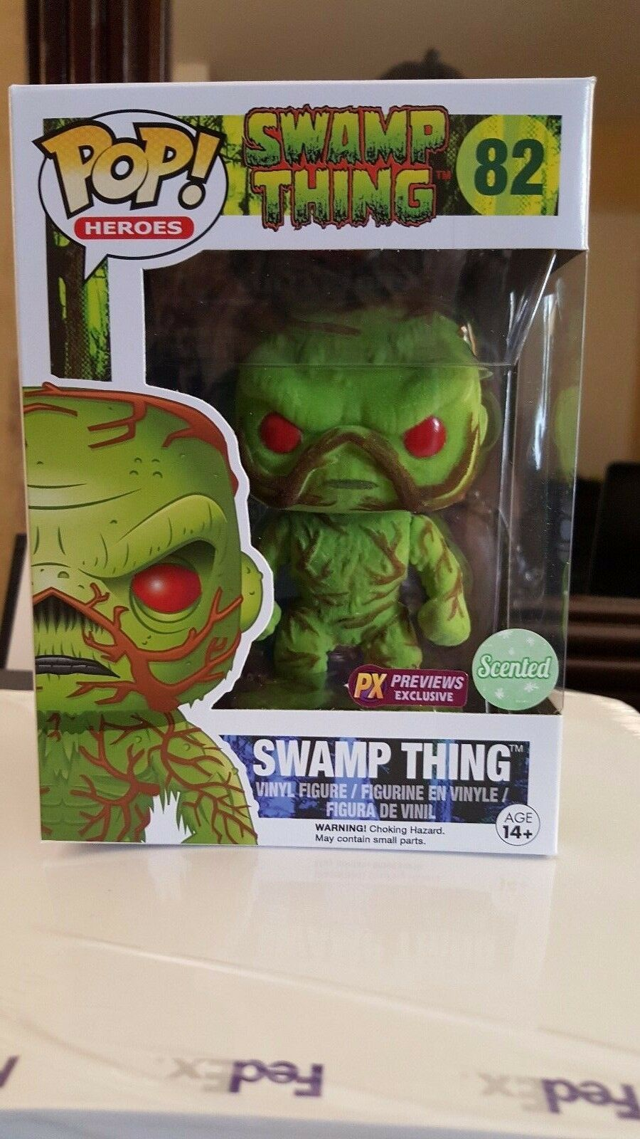SDCC 2016 EXCLUSIVE FUNKO POP SWAMP THING SCENTED VINYL FIGURE NIB CON IN HAND
