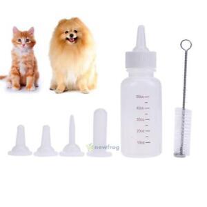 6Pcs-Clear-Puppy-Kitten-Feeding-Bottle-Pet-Dog-Cat-Nursing-Water-Milk-Feeder-Kit