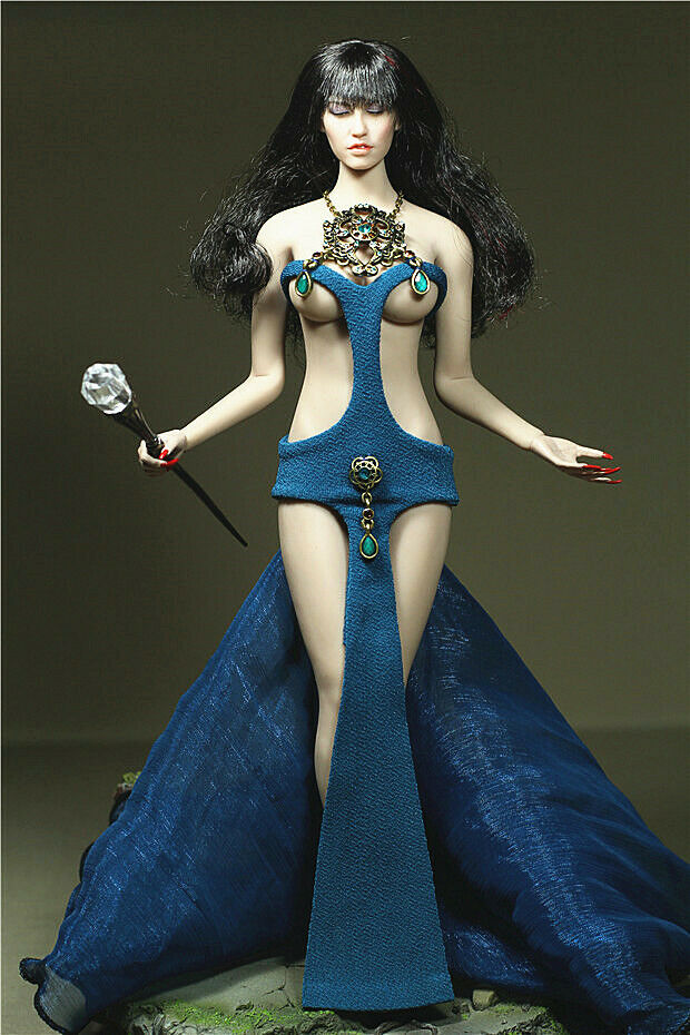 1 6 Female CMassehes&Accessories Gott of Water Dress F 12  PH groß bust Figure