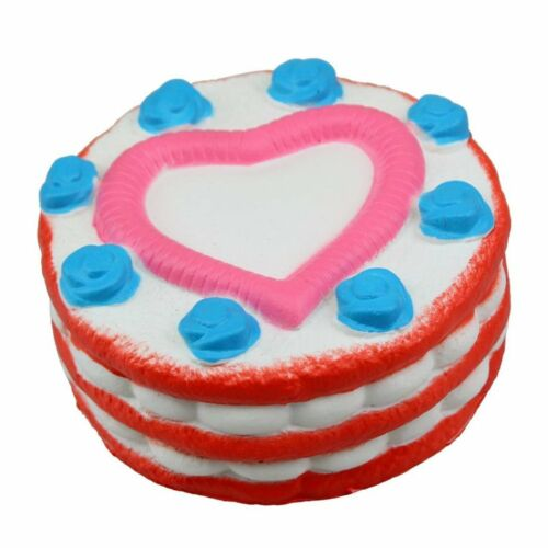 Strawberry Cake with Pink Heart Slow Rising Scented Squishy Toy