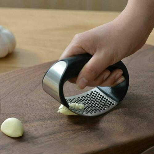 Stainless Steel Garlic Press Crusher Manual Rocking Squeezer Mincer Kitchen