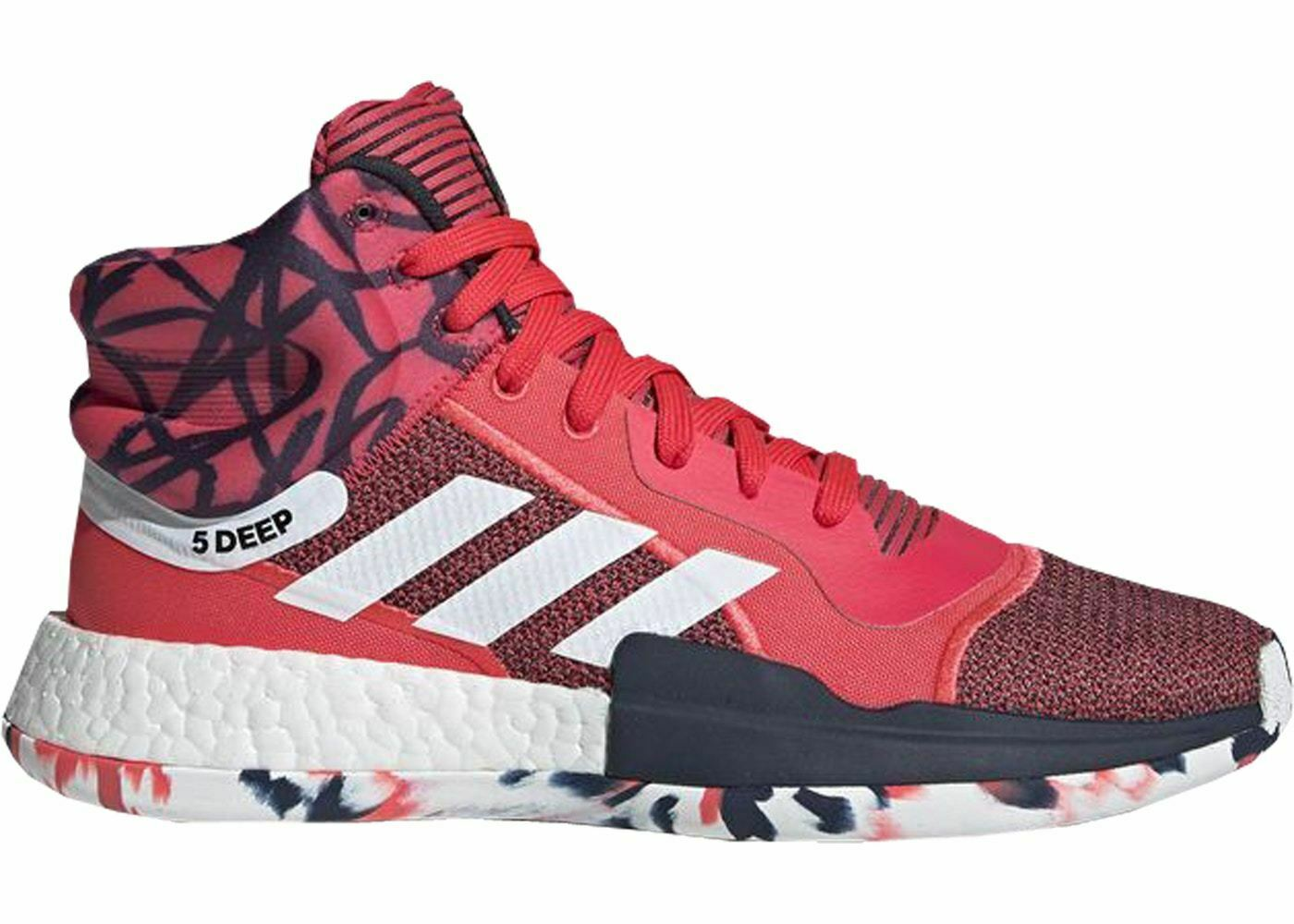 Mens Adidas Marquee Boost John Wall Shock Red Footwear White Core Navy G27737
