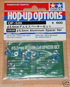 Tamiya-53539-5-5mm-Aluminum-Spacer-Set-TA06-TA07-TB04-TRF417-TRF418-TRF419-NIP