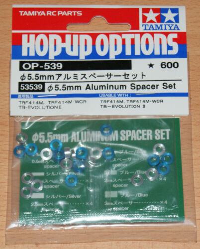 NIP TA06//TA07//TB04//TRF417//TRF418//TRF419 Tamiya 53539 5.5mm Aluminum Spacer Set