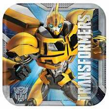 """8 Transformers Bumble Bee Childrens Birthday Party 7"""" Paper Dessert Plates"""