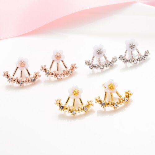 Fashion Crystal Boucles d/'oreilles Petite Daisy fleur suspendus sous l/'oreille Femme Bijoux