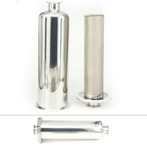 """1.49/"""" Pipe OD 1.5/"""" Tri Clamp In-line Filter Strainer Brewing 100Mesh Stainless"""