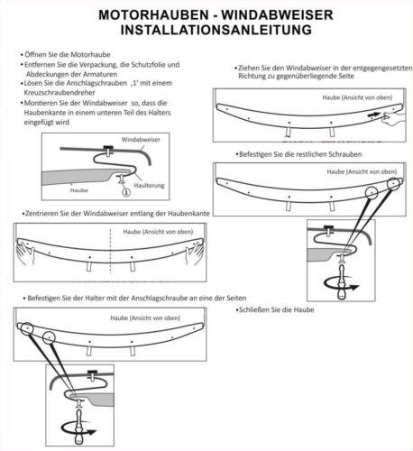 HDNI510 Motorhaube Windabweiser Steinschlagschütz für NISSAN QASHQAI 07-10