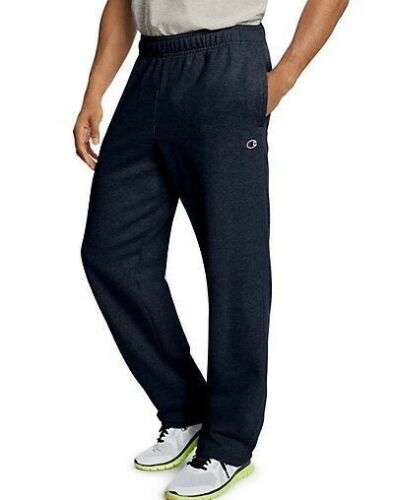 S-4XL Champion Men/'s Powerblend Fleece Open Bottom Sweat Pants 4 COLORS