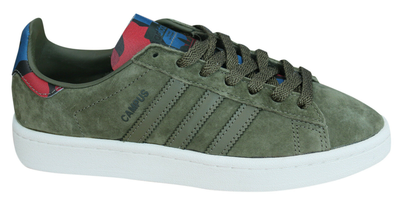 Adidas Originals Campus Mens Trainers Lace Up schuhe Leather Olive BB0077 B100C