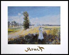 Claude Monet Der Spaziergang Poster Kunstdruck mit Alu Rahmen in schwarz 24x30cm