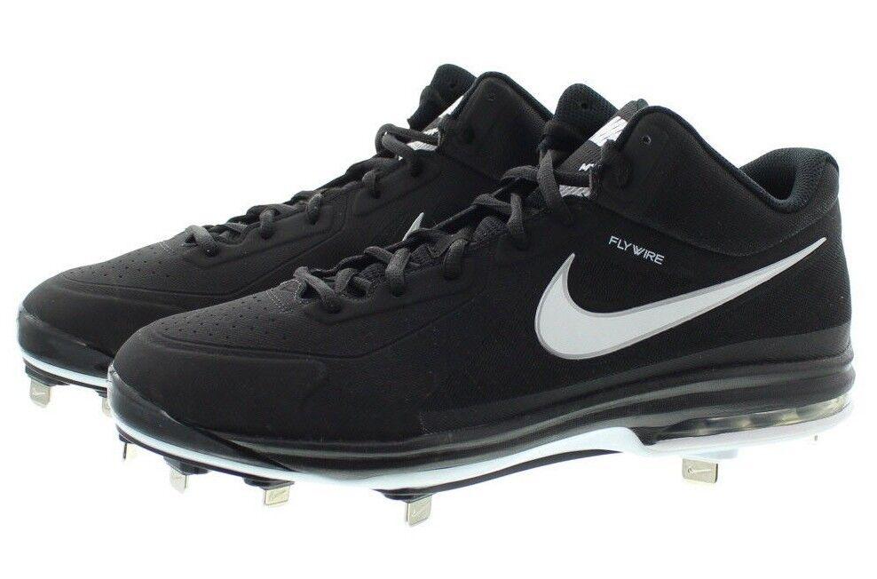 Nike 524957 Mens Air Max MVP Elite 3/4 Low Top Baseball Cleats Shoes Black Brand discount