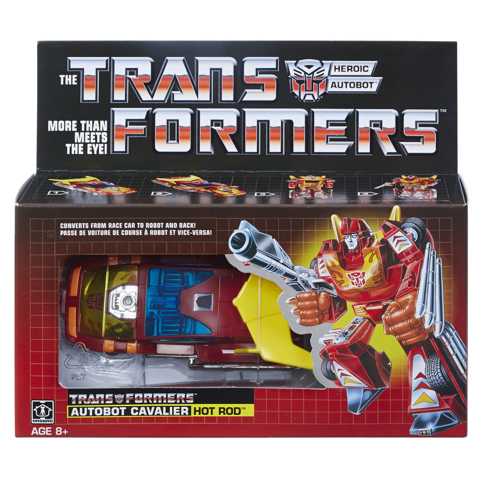 Transformers Walmart Exclusive G1 Reissue Hot Rod-Brand Nuovo In Hand
