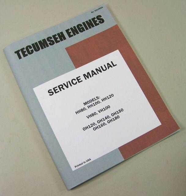 sears st 16 lawn mower garden tractor tecumseh oh160 engine service rh ebay com tecumseh engine service manual tecumseh engine repair manual