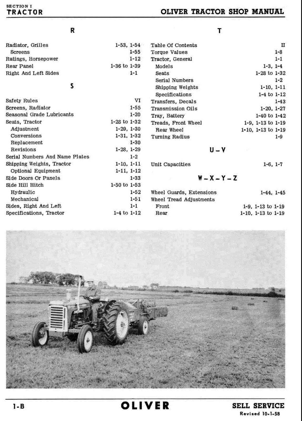 Oliver 550 Series Tractor Service Manual Parts -6- Manuals Best Searchable  DVD | eBay