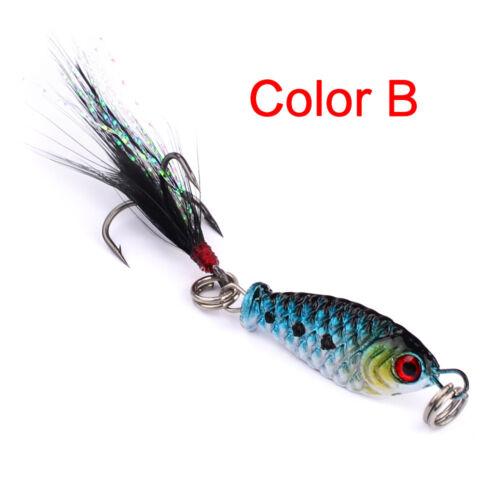 Lot 4 Pcs Hard Metal Fishing Lures Crankbaits Hooks Small Minnow Baits Tackle