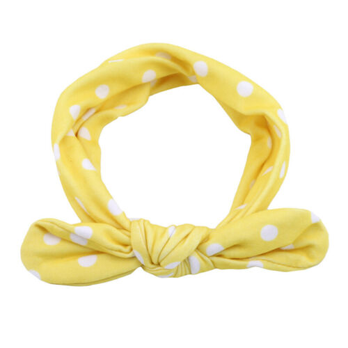 Children Baby Bunny Rabbit Ears Wrap Bow Bowknot Elastic Hair Band Headband 8C