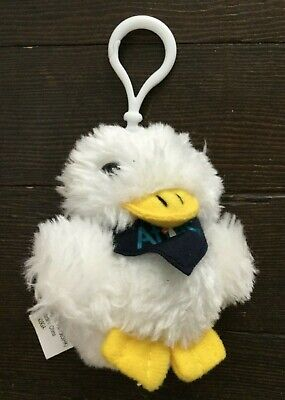 "Aflac Mini Duck Key Backpack Clip Plush Key chain Talking 3/"""