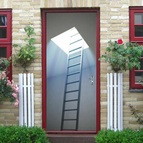 3D Ladder Self Adhesive Wall Door Sticker Decal Removable Mural Decor Wallpaper
