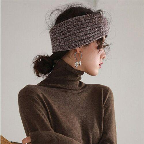 Headband Girls Twist Crochet Headwrap Warmer Ladies Winter Knitted Hairband Ear