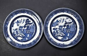Johnson-Brothers-Willow-Blue-Made-in-England-Salad-Plates-Set-of-2