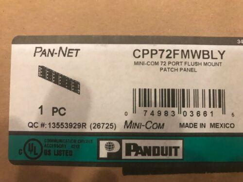 PANDUIT CPP72FMWBLY 2RU 72 PORT FLUSH MOUNT MINI-COM PATCH PANEL