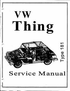 1973-1974-VW-Thing-Type-181-Service-Manual-eBook-Fast-Shipping