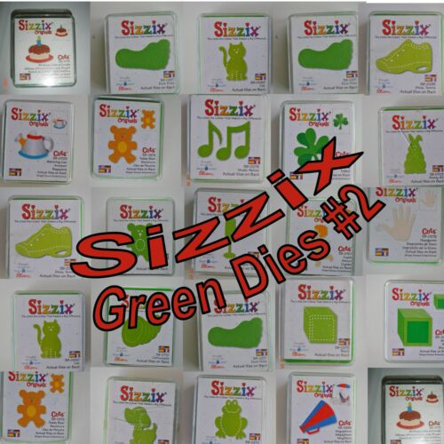 Sizzix Provo Craft Ellison Scrapbooking Green Die Cuts Crafts Your Choice #2
