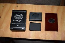 Barry Bonds 2006 Topps Sterling Cherry Wood Box  4 pc , Nice condition  NO CARDS