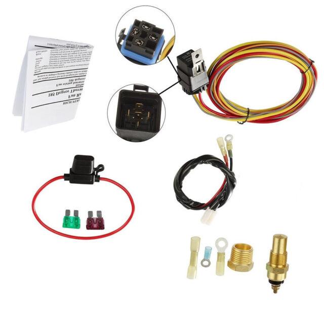 cooling fan wire harness wiring diagram car electric cooling fan wiring harness kit 185 on 165 off 2002 trailblazer cooling fan wiring