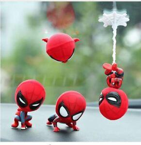 Car-Cartoon-Spiderman-Model-Shake-Head-Toy-Resin-Ornament-Magnet-Auto-Interior
