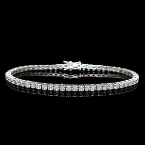 12-00TCW-Round-Cut-Created-Diamond-7-034-Tennis-Bracelet-925-Sterling-Silver-4mm