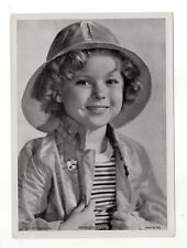 Shirley Temple 1937 Union Dresden Film Star Series 16 5X7 Cigarette Photo Card
