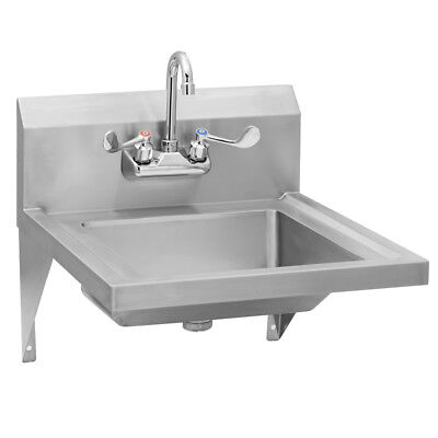 Stainless Steel Commercial ADA Compliant Hand Sink - Splash Mount Faucet |  eBay