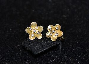 Image Is Loading P1 Unique Handmade 18k Gold Amp Diamond Flower