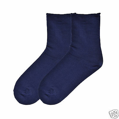 K.Bell Large Flower Relaxed Loose Top Turq Blue  Ladies Crew Socks New
