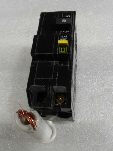 QOB220GFI Square D 2 Pole 20A 120//240VAC 60Hz GFI Circuit Breaker NEW