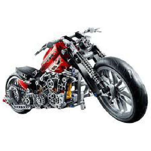 378Pcs Technic Motorcycle Exploiture Harley Vehicle Lego Bricks Creator Building