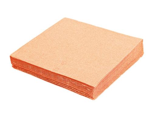 40143-6 250 Servietten Imbißservietten 40x40 cm 1//4 Falz 3-lagig apricot