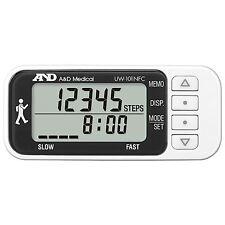 A&D Medical triassiale Monitor Attività Slim Da Passeggio Passo Contatore pedeometer + NFC