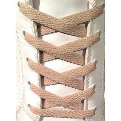100% Vero Lacci Per Scarpe Beige Piatti 7mm - Stringhe In Cotone