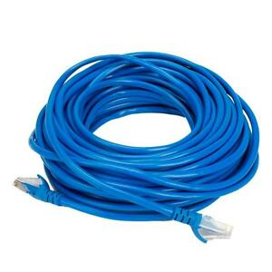 50ft cat5 rj45 male connector ethernet lan network patch cable blue rh ebay com Home Cat 5 Wiring Diagram Cat 5 Jack Wiring Diagram