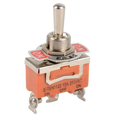 1 pcs 3-Pin ON-OFF-ON 3 file Toggle Switch 15A 250V AC Orange SWTG