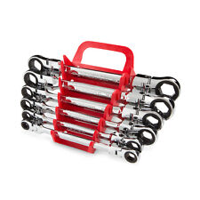 Flex-Head Ratcheting Box End Wrench Set with Store and Go Keeper  Metric 6-Piece